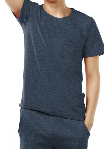 Penti  Solid Navy Ss Pijama Takımı Mavi